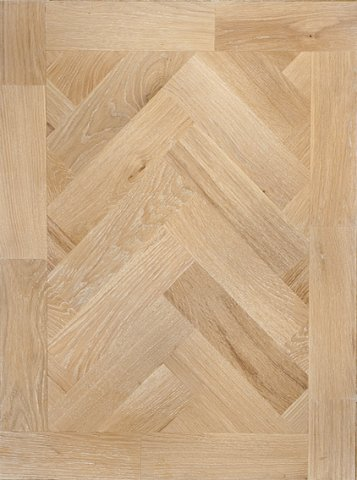 White parquet block flooring