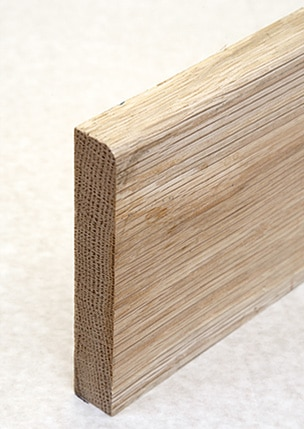 Wooden skirting with bullnose finish