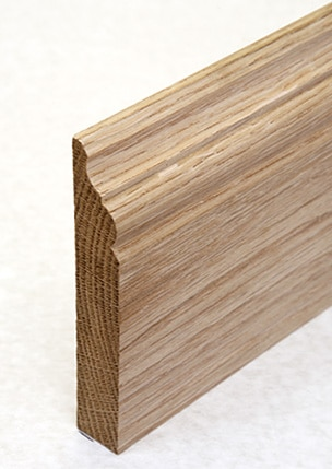 Wooden skirting with double ogee