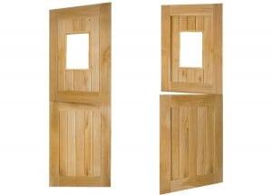 framed and ledged stable glazed oak door