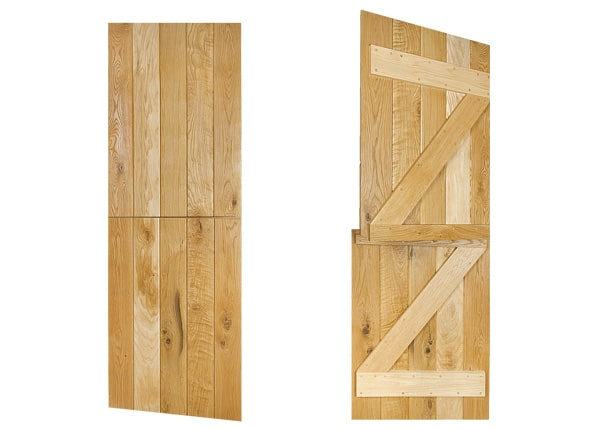ledged and braced stable solid oak door