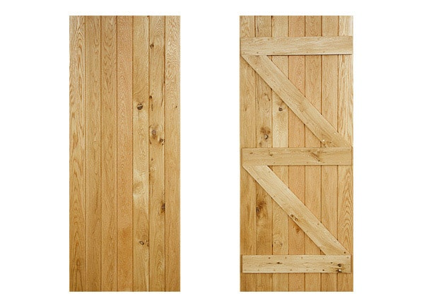 ledged and braced oak door