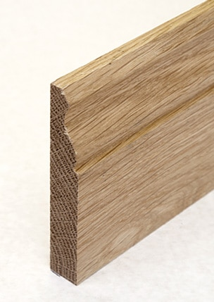 Wooden skirting with single ogee
