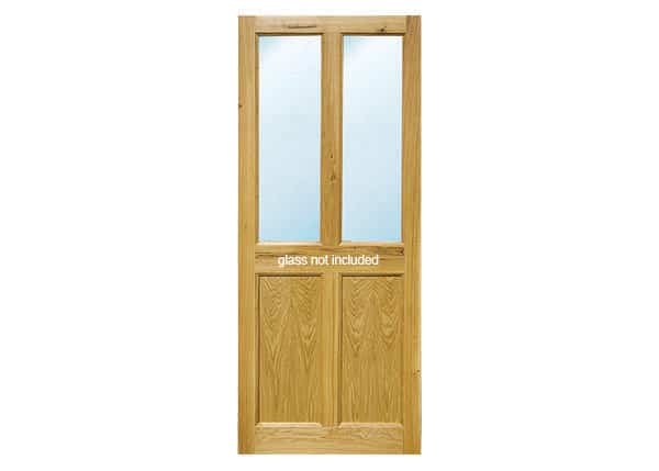 Satu Glazed oak door with two glass panels