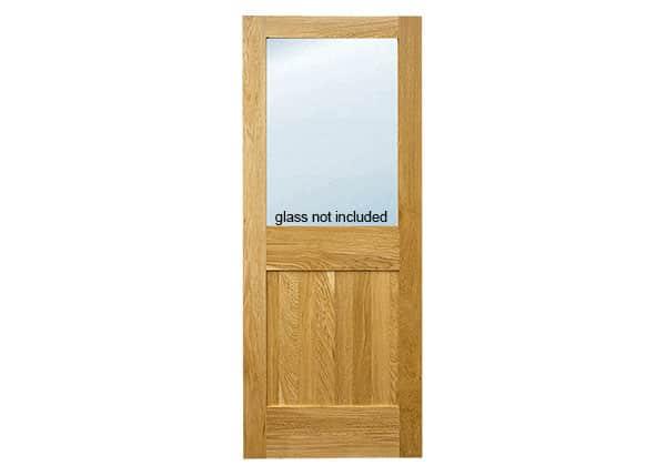 Trent glazed solid oak door