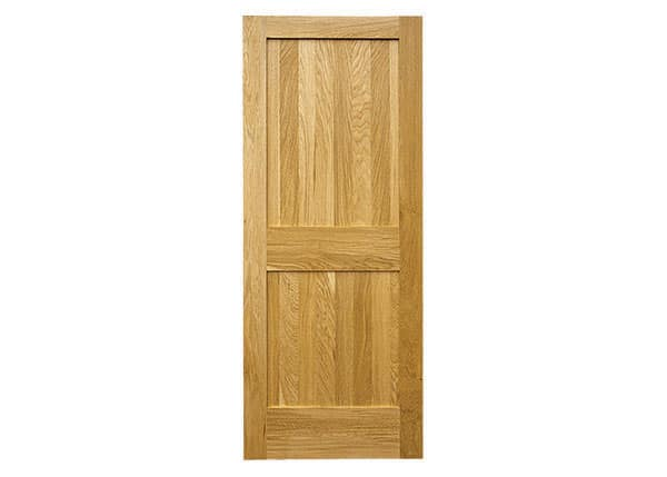 Solid oak door panel