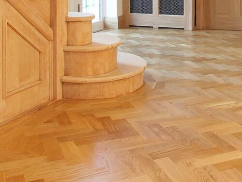 Solid Oak Herringbone Flooring,