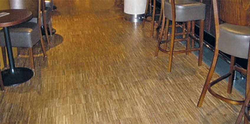 Industrial Parquet flooring at the Hoxton Hotel