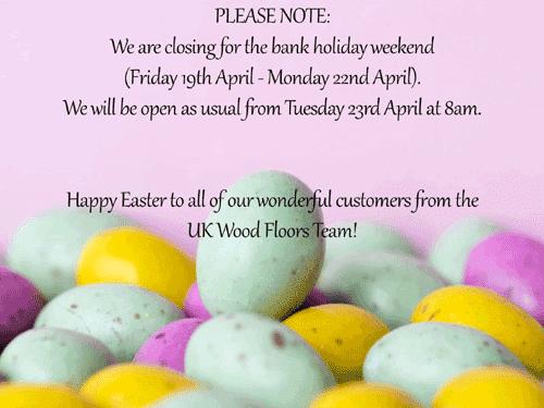 Easter Bank Holiday Weekend!