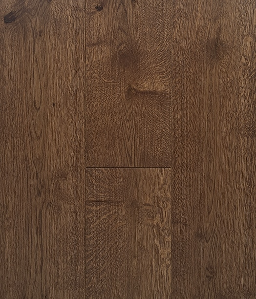 Traditional Walnut Stain Hard Wax Oil Engineered Rustic Grade Oak Plank Flooring UK Manufactured European Oak